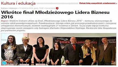 """Niebawem finał konkursu """"Młodzieżowy Lider Biznesu 2016"""""""