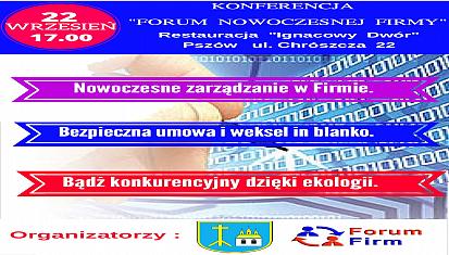 """Zapraszamy na bezpłatną konferencję """"Forum Nowoczesnej Firmy"""""""