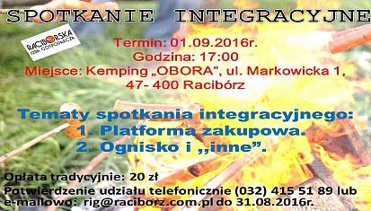 Spotkanie integracyjne - 01.09.2016r. !!!