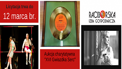 """Zapraszamy na aukcję charytatywną  """"XVI Gwiazdka Serc"""""""
