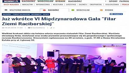 VI edycja wręczenia statuetek Filar Ziemi Raciborskiej.
