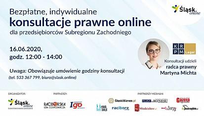 Bezpłatne, indywidualne konsultacje prawne online dla przedsiębiorców Subregionu Zachodniego