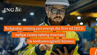 """Zaproszenie na webinar """"Radykalne zmiany cen energii dla firm od 2021 r."""""""