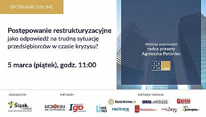 Webinar: Postępowanie restrukturyzacyjne jako odpowiedź na trudną sytuację przedsiębiorców w czasie kryzysu