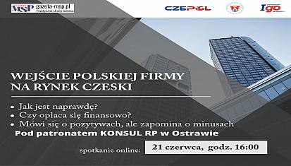 """Zapraszamy na szkolenie online """"WEJŚCIE POLSKIEJ FIRMY NA RYNEK CZESKI"""""""